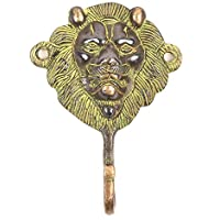 Armoires/Wardrobes Handtuchhalter Ring Eisen Löwe Antik-Stil Lion towel rail 33cm Antique Furniture