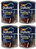 4 x 250ml Dulux Buntlack Glänzend für innen und außen 1 Liter Farbton...