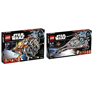 Pack LEGO - 75178 -  Star Wars - Le Quadjumper de Jakku et LEGO - 75186 -  Star Wars - The Arrowhead
