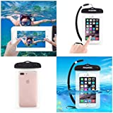 DFV mobile - Universal Protective Beach Case 30M Underwater Waterproof Bag for => MITSUBISHI M320 > Transparent