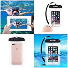 DFV mobile - Funda Protectora Playa Sumergible Universal 30M Impermeable para => HUAWEI G PLAY MINI > Transparente