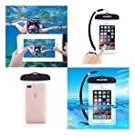Allows touch screen function fully available and feels free to make phone calls. High quality and tough plastic seal system ensures good waterproof function. Transparent front and partial back design, capable of taking photos with camera underwater. ...