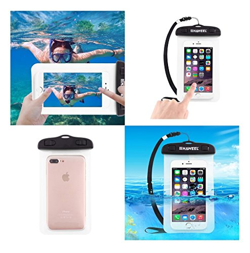DFV mobile - Universal Protective Beach Case 30M Underwater Waterproof Bag for => MICROMAX A114 CANVAS 2.2 > Transparent (Micromax A114 Mobile Cover)