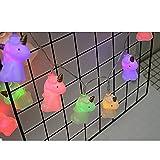 misslight Licorne Citrouille LumièRes String LED Chaîne Batterie Légère Charge Noël Halloween Feux Décoratifs (Colorful Unicorn)