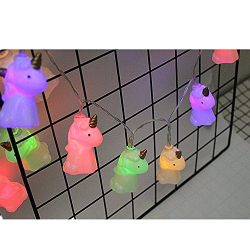 misslight LED Einhorn Kürbis Lichterketten String Licht Streifen Flamingo Halloween Deko Party...
