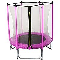 GSD Kindertrampolin Pink 15798 mit Longpole-Netzstangen und 1,40 m Ø für absoluten Indoorspaß