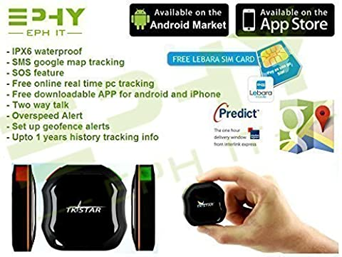 Brand New TKSTAR Mini Real Time AUTO GPS Hidden SPY Waterproof Tracker Tracking Device with SMS & Google Maps Tracking for Children, Elderly, Cars, Motorcycle, Motorbike, Pets & More. With FREE downloadable app for iPhone & Android users (NOW INCLUDES A FREE SIM CARD)