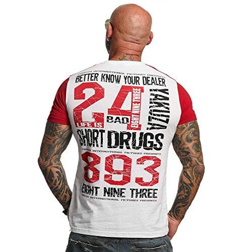 Yakuza Original Herren Know Your Dealer II T-Shirt Weiß