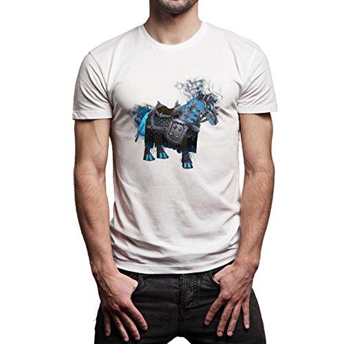 World Of Warcraft Heroes Blizzard Lich King Mount Herren T-Shirt Weiß