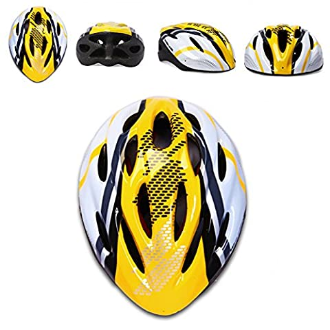 SaySure - WOLFBIKE Bicycle Bike Cycling Adult Men Women Carbon Helmet BMX MTB Road Hero Helmet 19 Holes Visor Size 54-64cm Yellow Blue Red - GMN-BG-SPT-000317
