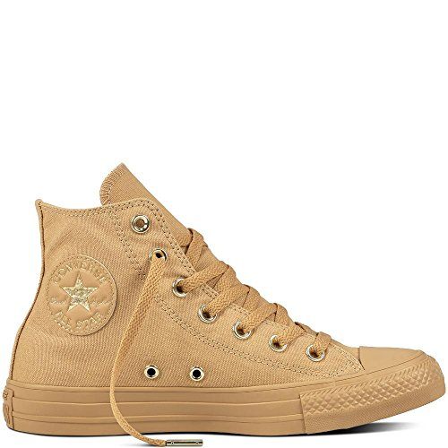 Converse Damen Chuck Taylor All Star High Hohe Sneaker, Braun Light Fawn/Gold 249, 37 EU