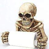 Montage mural rétro pratique Squelette Serviette en Papier essuie-tout Tête de mort Porte rouleau pour papier, Ghost Festival de salle de bain Stockage Artefact