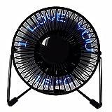 LIUXINDA-WJ 2018 Accueil LatestXIAOGEGE Mini-USB LED ventilateur de bureau portable mute 360 ventilateur de refroidissement électrique rotatif 4 pouces