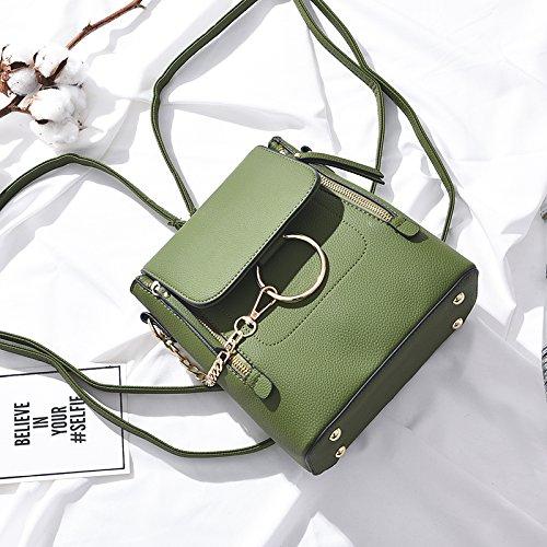 Sprnb Zaino Tempo Libero Tutti-Match Femmina Lady Borsa Tracolla Stile Messenger Dual-Purpose Sacchetta,Verde Militare Army green
