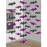 6-teiliges Decken-Deko Set * FLEDERMAUS * für Halloween oder eine Motto-Party // Kindergeburtstag Feier Fete Strings of Bat Horror Grusel Halloween
