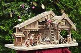 Krippenzubehör Krippendeko - Krippenfiguren mit DEKO-SET 19-teiliges SET, Krippe KFTOG-TDK figuren mit textiler Bekleidung, Größe 12-15 cm max. Textilfiguren,Ankleidefiguren komplett, Figuren für große Holz Weihnachtskrippe Zubehör, Design XXL Maria Josef Jesus aus Krippen, orientalische Figuren, Orient-Krippenfiguren TEXTIL MIT DEKO-SET Krippe,weinachtskrippen