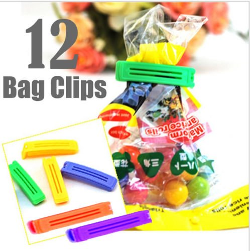 Generic Plastic Food Snack Bag Pouch Clip Sealer, Multicolour