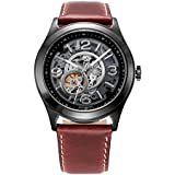 Kenneth Cole KC8076 44mm Automatic Stainless Steel Case Brown Calfskin Mineral Men's Watch