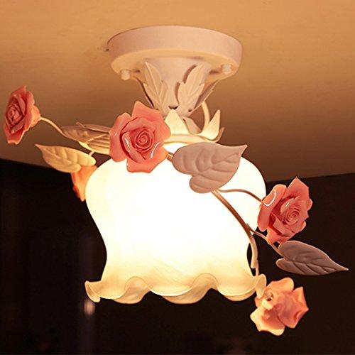 ZXW Keramik Deckenleuchten Single Head Wohnzimmer Schlafzimmer Lights Aisle Korridor Lichter Lampen Und Laternen Blumen Und Blumen Bauernhaus Stil Weiß -E27 -
