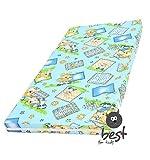 Materasso lettino, materasso 60x120 cm materasso con bambini rotolamento borsa da viaggio (Blu)