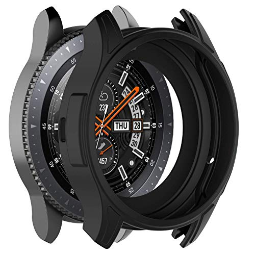 Mwoot 3 Pezzi custodie per Samsung Galaxy Watch 46MM e Samsung Gear S3 Frontier, Anti Graffi Cover Nero-Non per Samsung Galaxy Watch 42MM e Samsung Gear S3 Frontier Classic