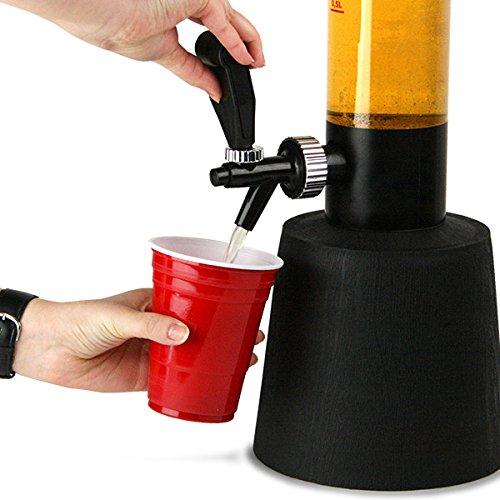 512qis1DqoL. SS500  - bar@drinkstuff Gulp Beer Tower Drink Dispenser | 3.5ltr Beer Dispenser, Tabletop Beer Tower, Home Beer Tower, Home Beer…