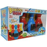 Preisvergleich für allkindathings bt781561Spielzeug Kinder 3D 6x Pin Bowling Set Farbe Spiel mit Sounds und blinkende Lichter