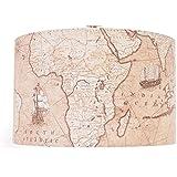 35,56 cm color marrón antiguo mapa del mundo de pantalla