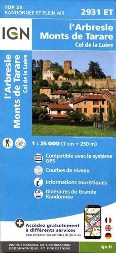 2931ET L'ARBRESLE MONTS DE TARARE COL DE LA LUERE par COLLECTIF