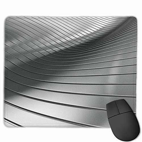 Jujupasg-Mauspad, Rutschfestes, Wasserdichtes Mousepad Auf Gummibasis Für Laptops - Aluminium Silber Metallarbeiten