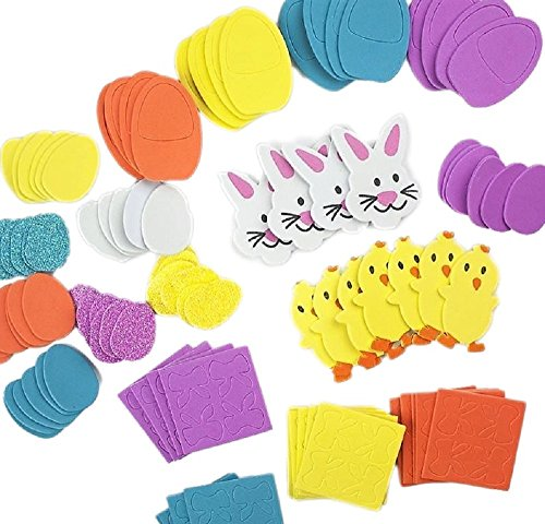 95-Easter-Foam-Stickers-Self-Adhesive-Eggs-Bunny-Chick-Bows-Ideal-for-Easter-Card-Making-and-Easter-Craft