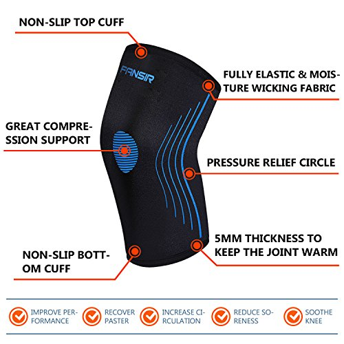 Knee-Compression-Sleeve-Knee-Support-Best-Knee-Brace-for-Crossfit-Jogging-Basketball-Sports-Injury-Recovery-Knee-Brace-for-Meniscus-Tear-ACL-Tendonitis-Arthritis-and-Joint-Pain-Pair