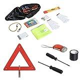 homcom kit emergenza di 13 pezzi, sicurezza stradale, assistenza, avarie sulla corsia di emergenza, essenziale per il viaggio