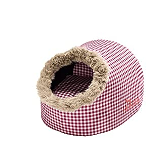 HUNTER Astana Cat Cave, 38 x 40 x 27 cm, Medium, Checked Red/Plush Red 12