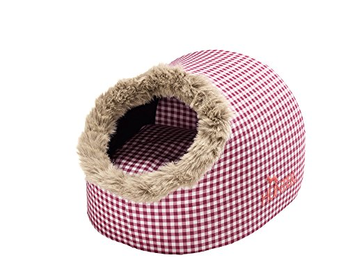 HUNTER Astana Cat Cave, 38 x 40 x 27 cm, Medium, Checked Red/Plush Red 1