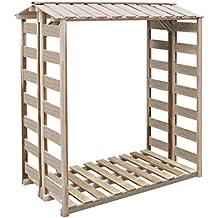 Festnight Caseta para Leña Cobertizo de Almacenamiento de Madera150x100x176 cm Impregnada