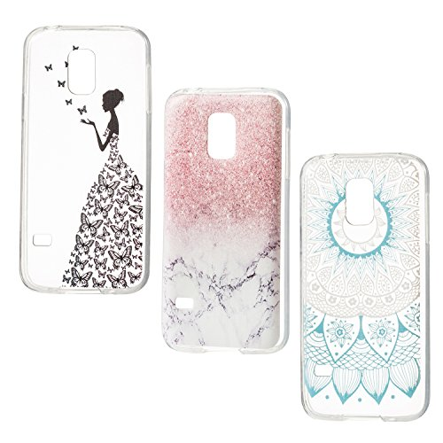 Hülle für Samsung Galaxy S5 MINI ZOEVIEW Case TPU Softcase Silikon Back Cover Tasche Schutzhülle Ailikon Schutzhülle Case Etui HandySchale Transparent