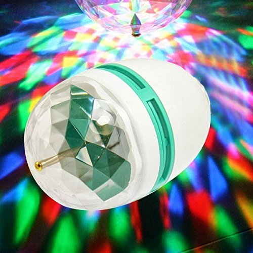 RGB LED bombilla de la lámpara 3W E27 giratoria juego multicolor disco light