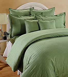 """Trance Home Linen 210 TC Cotton Duvet Cover with 2 Pillow Covers - King Size (Moss Green) - 102"""" x 110"""""""