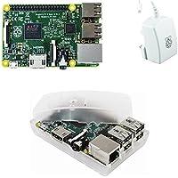 Starter 3er Set : Raspberry Pi 2 Model B / offizielles Raspberry-Pi 2A Netzteil / transparentes Gehäuse