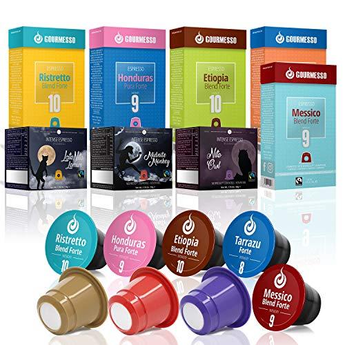 Gourmesso High Intensity Box - 80 Nespresso kompatible Kaffeekapseln - 100% Fairtrade Espresso