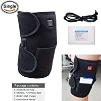 Heated Knee Brace Wrap Support / Electric Therapeutic Heating Pad W/ Rechargable 7.4V 2600Mah Battery for Joint Pain, Arthritis Pain Relief (3 Temperature Setting) by ARRIS (1PCS)