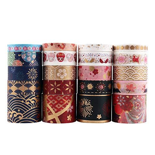 10 rotoli di 10 metri Floreale Nastro Washi Tape fantastico per feste e party mestieri artigianato Nastro Adesivo Decorativo DIY Washi mascheratura nastri per fai da te decorazione di libri