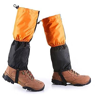 PIXNOR 1 Paar wasserdichte Outdoor Wandern Wandern Klettern Schnee Legging Gamaschen (Orange)