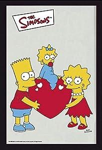 Close Up V828650 The Simpsons Bart Maggie & Lisa - Espejo, Multicolor