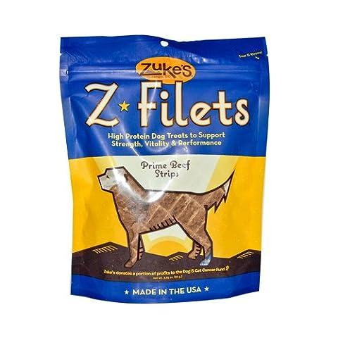 Zukes Z Filet Prime Beef Strips Pet High Protein Healthy Dog Chew Treats 3.25z