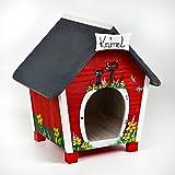 Katzenhaus - Katzenvilla - Katzenhütte - Personalisiert mit Namenschild