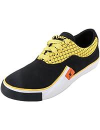 Sparx Men's SM198 Series Black Yellow Canvas Casual Shoes