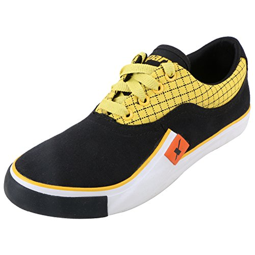 Sparx Men's Sm198 Series Black Yellow Canvas Casual Shoes