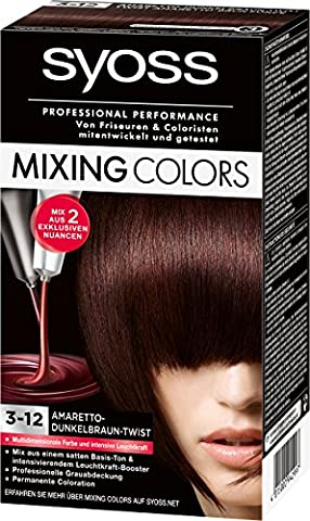 Syoss Mixing Colors Coloration 3-12 Amaretto-Dunkelbraun-Twist, 3er Pack (3 x